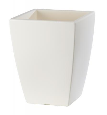 quadrat blumenk bel in einer edlen wei en farbe deisgnt pflanzkuebel. Black Bedroom Furniture Sets. Home Design Ideas